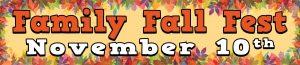 Family Fall Festival November 10 2018