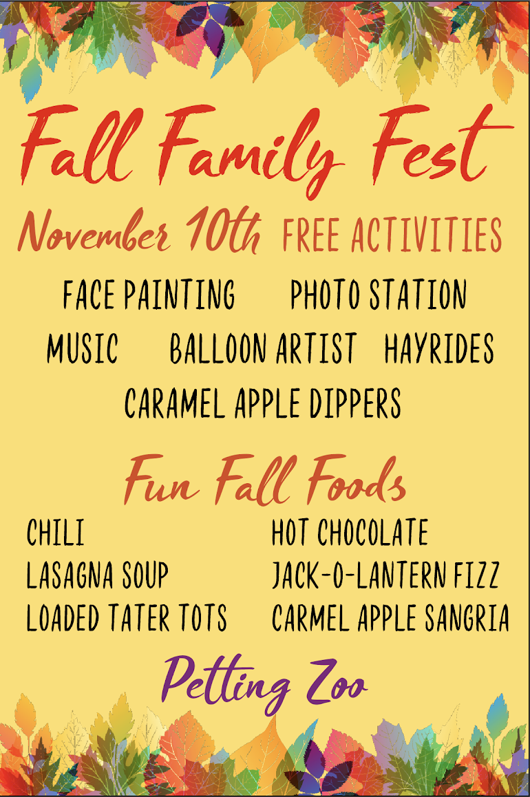 Fall Family Fest November 10 2018 Lafayatte Jockey Lot Flea Market