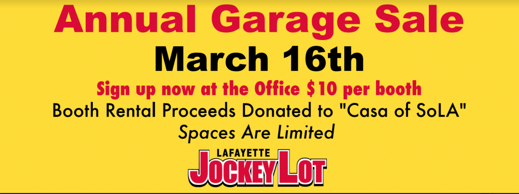 2019 annual garage sale